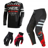 Oneal Element Squadron Combo schwarz rot Jersey Crosshose