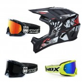 Oneal Backflip MTB Helm Boom mit TWO-X Race Brille