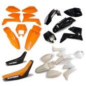 Plastiksatz KTM LC4 99 schwarz orange weiss