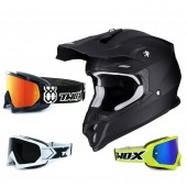 Scorpion VX-16 Air Crosshelm Solid matt schwarz inkl. TWO-X Race Crossbrille