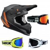 Thor Sector Crosshelm CHEV orange inkl. TWO-X Race Crossbrille