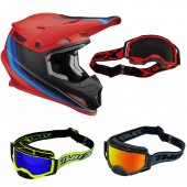 Thor Sector Crosshelm Mips Runner rot inkl. TWO-X Atom Crossbrille
