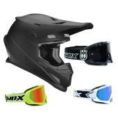 Thor Sector Crosshelm Matt schwarz inkl. TWO-X Race Crossbrille