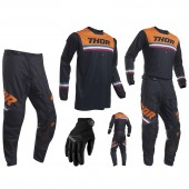 Thor Pulse Combo Pinner blau orange Hose Jersey Handschuhe