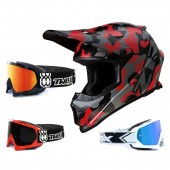 Z1R Rise Crosshelm Camo rot mit TWO-X Race Brille