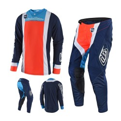 Troy Lee Designs SE Squadra Combo Jersey Crosshose blau orange