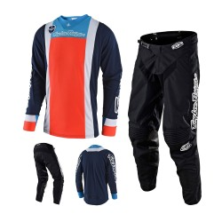 Troy Lee Designs Squadra Mono Combo Jersey Crosshose blau orange schwarz