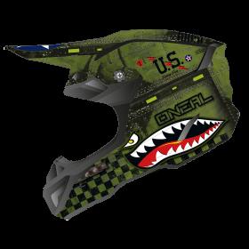 Oneal 5Series Warhawk Helmvisier schwarz grün