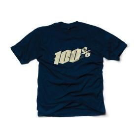 100% T-Shirt Blackletter blau