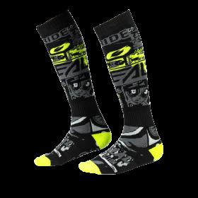 Oneal Pro MX Ride Socken schwarz neon gelb