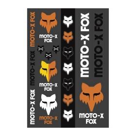 Fox Heritage Track Aufkleber schwarz orange