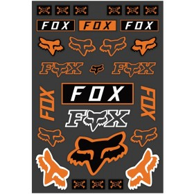 Fox Legacy Track Aufkleber orange