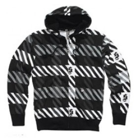 Shift Plaid Zip Hoody schwarz
