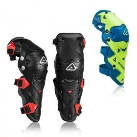 Knieschützer von Acerbis schwarz rot Kneeguards, MX Knieschutz, Knieprotektoren, Schutz für Knie