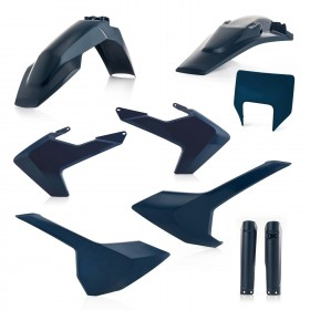 Acerbis FULL Plastiksatz Kit für Husqvarna TE/FE 19 blau