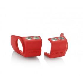 Acerbis Gabelfussprotektor für Honda/für Kawasaki rot