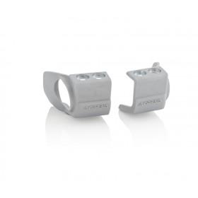 Acerbis Gabelfussprotektor für Honda/für Kawasaki silber
