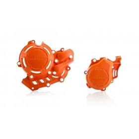 Acerbis KIT X-POWER Motordeckelschutz orange 2