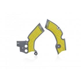 Acerbis Rahmenschützer X-GRIP für Suzuki RMZ 250 grau gelb