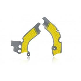 Acerbis Rahmenschützer X-GRIP für Suzuki RMZ 450 grau gelb