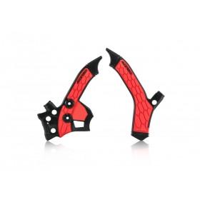 Acerbis Rahmenschützer X-GRIP schwarz rot für Honda