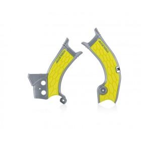 Acerbis Rahmenschützer X-GRIP SUZ RMZ450 2018 grau gelb