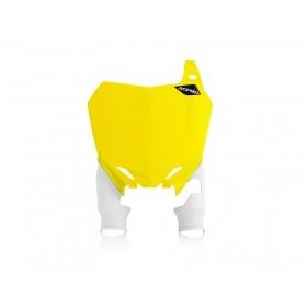 Acerbis Startnummerntafel RAPTOR für Suzuki gelb weiss