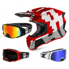 Airoh Twist 2.0 Frame Crosshelm rot mit TWO-X Rocket Crossbrille