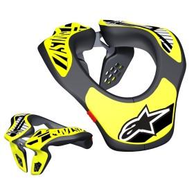 Alpinestars Kinder Nackenschutz Support schwarz neon gelb