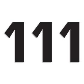 Blackbird Startnummern schwarz  #1 16X7.5CM Two Series