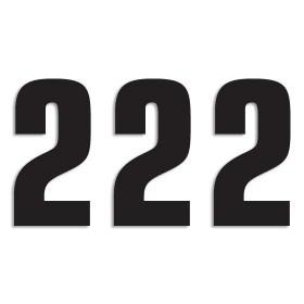 Blackbird Startnummern schwarz  #2 16X7.5CM Two Series