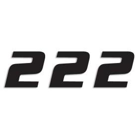 Blackbird Startnummern schwarz  #2 20X25CM One Series