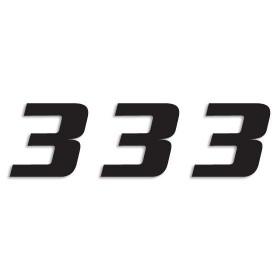Blackbird Startnummern schwarz  #3 20X25CM One Series