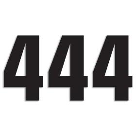 Blackbird Startnummern schwarz  #4 16X7.5CM Two Series