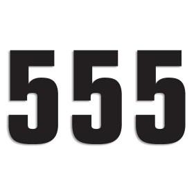 Blackbird Startnummern schwarz  #5 16X7.5CM Two Series