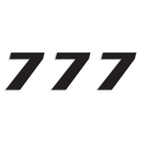 Blackbird Startnummern schwarz  #7 20X25CM One Series