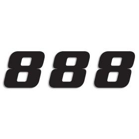 Blackbird Startnummern schwarz  #8 20X25CM One Series