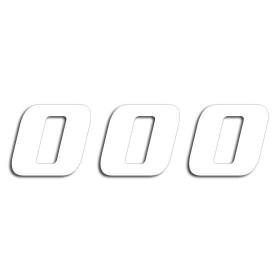 Blackbird Startnummern weiss  #0 20X25CM One Series