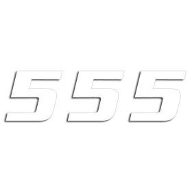 Blackbird Startnummern weiss  #5 20X25CM One Series