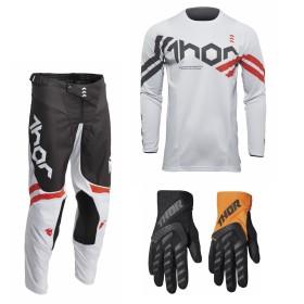 Thor Pulse Combo Cube grau orange Hose Jersey Handschuhe