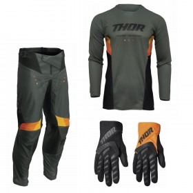Thor Pulse Combo React army Hose Jersey Handschuhe