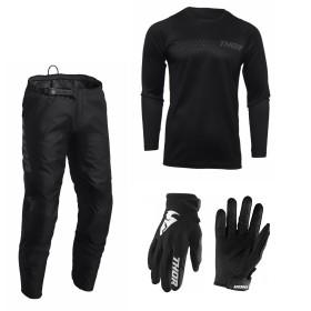 Thor Sector Combo Minimal schwarz Hose Jersey Handschuhe