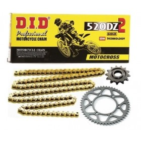 DID MX Kettensatz Alu DZ2 gold