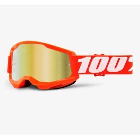 100% Strata 2 Crossbrille Kinder orange verspiegelt gold