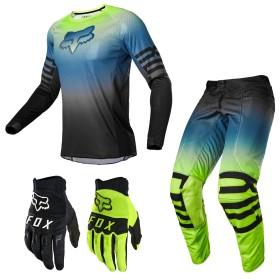 FOX 180 Airline Reepz Combo neon Hose Shirt Handschuhe