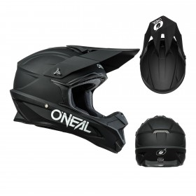 Oneal 1Series Solid Kinder Crosshelm schwarz