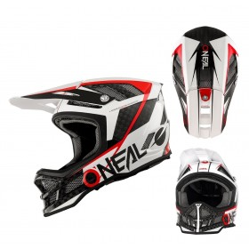 Oneal Downhill MTB Helm Blade Carbon GM Signature schwarz weiss