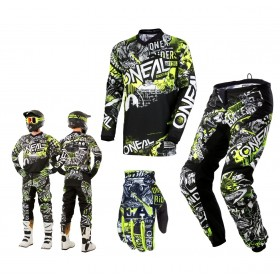 Oneal Element Attack Combo Crosshose Jersey Handschuhe