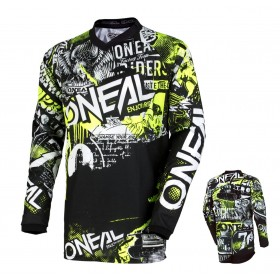 Oneal Element Jersey Attack neon gelb
