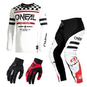 Oneal Element Racewear Combo blau orange Jersey Crosshose